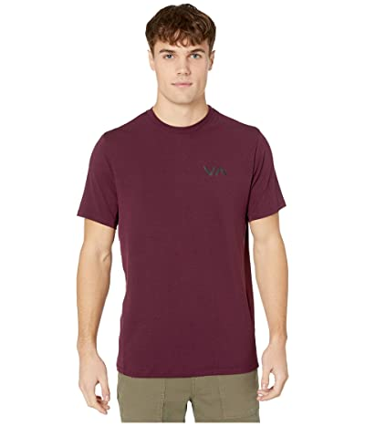 RVCA VA Sport Vent Short Sleeve Top (Plum) Men