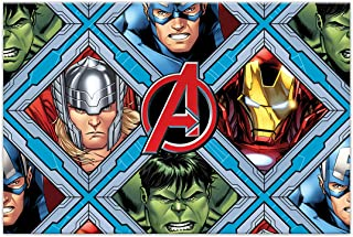 Procos 10115574 87968 - Party tafelkleed Mighty Avengers, afmeting 120 x 180 cm, afwasbaar, herbruikbaar, tafelkleed, deco...