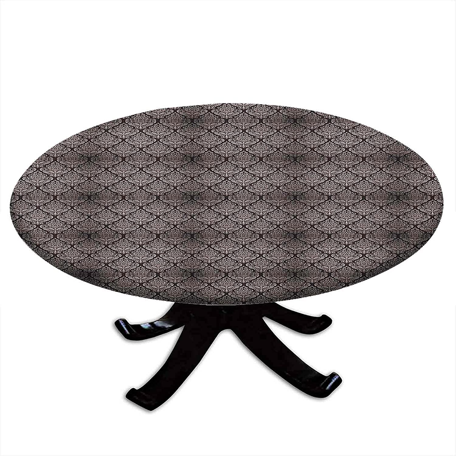 Round Fitted Damask Tablecloth Ancient with Very popular Byzantine quality assurance a Pattern