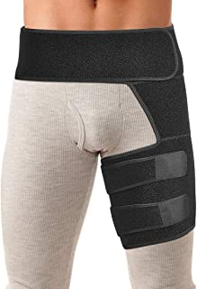 Xcellent Global Hip Brace,  Groin Thigh Compression Wrap Adjustable Neoprene Support Sleeve for Pulled Groin Muscle Strain Sciatica Pain Relief Suitable for Men & Women SP153