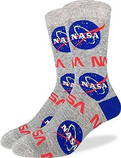 Good Luck Sock Men's Nasa Socks - Grey, Adult Shoe Size 7-12