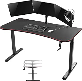 Computer game bureau Thomas - gaming desk - zit sta in hoogte verstelbaar - 160 cm x 80 cm