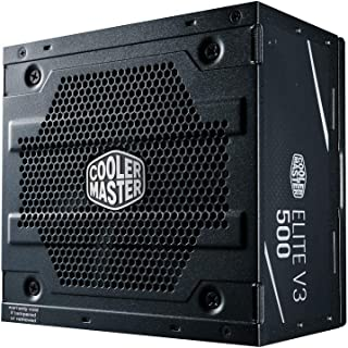 Fonte Cooler Master Elite V3 Full Range 500W (sem cabo de força), PFC Ativo