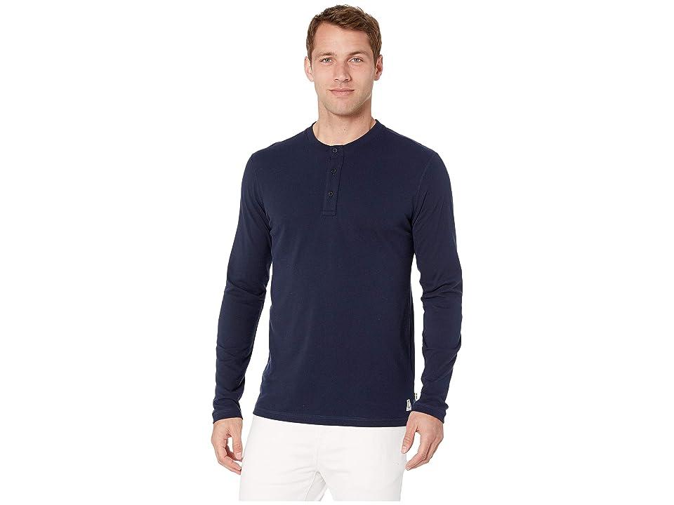 Fjallraven Greenland Re-Cotton Buttoned Long Sleeve (Dark Navy) Men