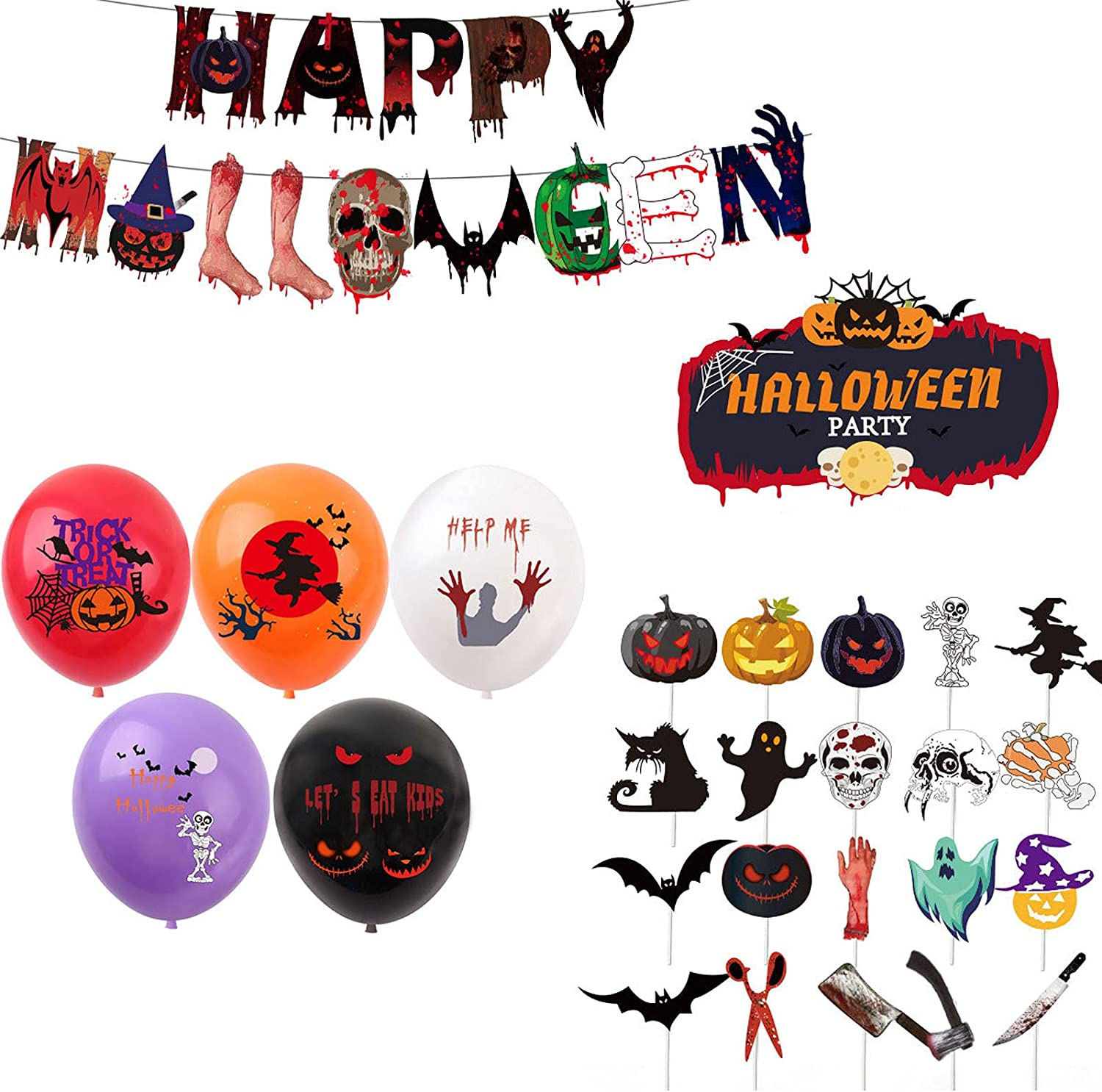 Halloween Party Balloon Ranking TOP17 Banners Set Ballo Horrible Skull Pumpkin All items in the store