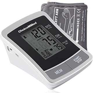 """ChoiceMMed Portable Blood Pressure Monitor - BP Cuff Meter with Display - Standard Size Blood Pressure Machine 8.66-14.17"""" - Blood Pressure Tester with Carrying Bag - Blood Pressure Gauge with Memory"""