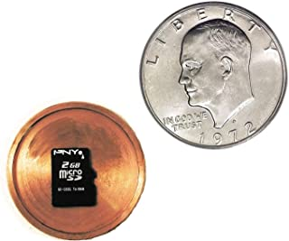 Micro SD Card Covert Spy Coin Secret Compartment - US Dollar Gadget