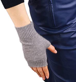 iMongol- Cashmere Fingerless Gloves Mittens Warm Gloves For Women Ladies, One Size(1 pairs)
