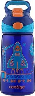 Contigo AUTOSPOUT Straw Striker Kids Water Bottle, 14 oz, Sapphire
