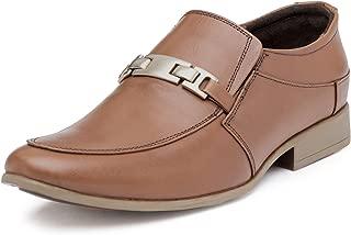 Escaro Everyday Wear Men's Leather Tan Slip-On Shoes