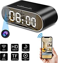 $58 Get Spy Camera, 1080P Hidden Camera Clock WiFi Video Recorder 140° Wide Angle Lens Wireless IP Cameras for Indoor Home Security Monitoring Nanny Cam with Night Vision Motion Detection