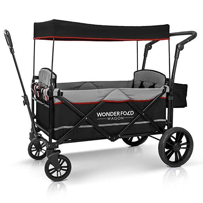 WonderFold Multi-Functional Push and Pull Double Stroller Wagon - Best Quality