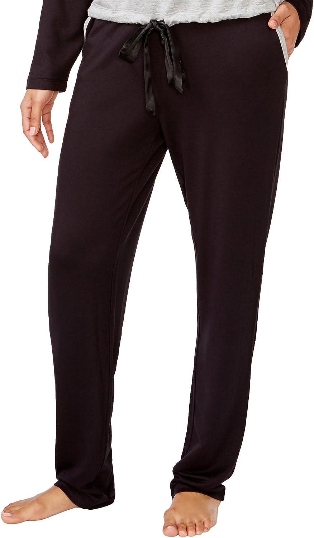 Alfani Intimates Women's Plus-Size Knit Pajama Pants, Classic Black, 3X
