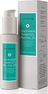 Niacinamide Serum 12% Plus Zinc 2% - 1oz, Vitamin B3, Minimize Pores, Balance Oil Production, Wrinkles, Fine Lines, Hyalur...