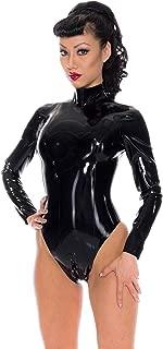 Madame Belle Latex Rubber Leotard. Black.