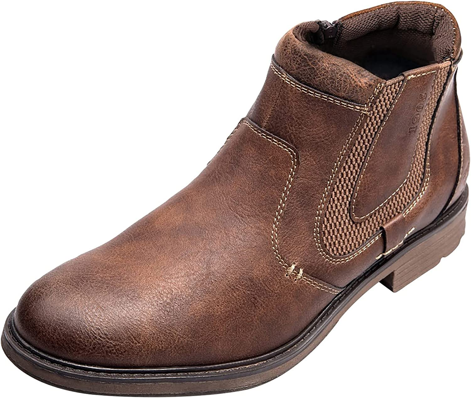 SALENEW very popular! DKBL Boots for Men Ankle New mail order Slip-on Top Leather Shoes Bo High