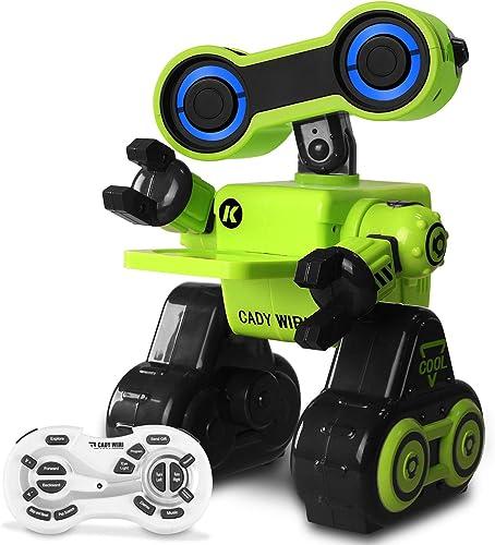Robot-Jouet télécomhommede et Comhommede vocale, programmable, à détection Tactile, avec Fonction Interactive pour Marcher, Danser, Chanter, Explorer, Donner et Envoyer des Cadeaux aux Enfants