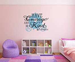 Have Courage and be Kind - Cinderella Removable Wall Decal Sticker DIY Art Décor for Home Nursery Kids' Girl's Room Decals
