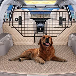 VIVOHOME Heavy Duty 35.2-48 Inch Dog Cat Barrier Guard Adjustable Wire Mesh Pet Divider for Cars SUVs Vans Vehicles