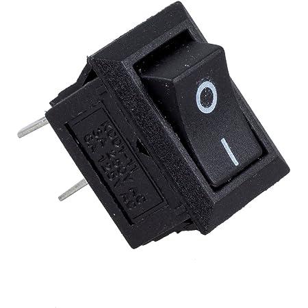 SODIAL(R) 5 x CA 250V 3A 2 Pin ON/Off I/O SPST Mini Interruptor Basculante