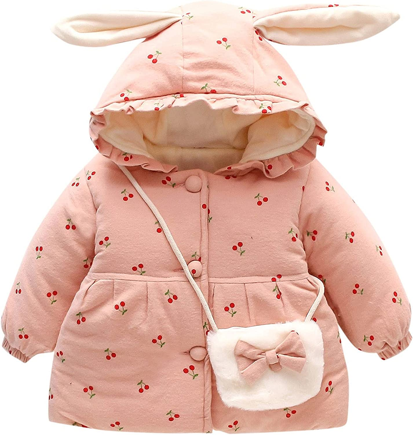 Free shipping Baby Girls Winter Fleece Coat Limited time for free shipping Overcoat Warm Toddler Long Sleeve