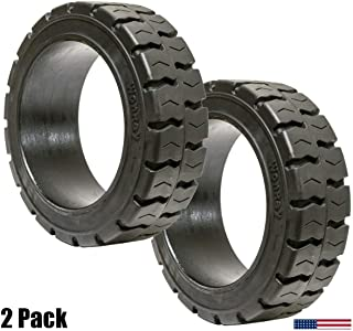 (2-Packs) 21x7x15 Tires Super Solid Idl Forklift Press-On Traction Tire 21715