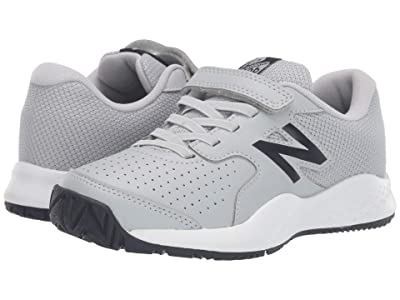 New Balance Kids 696v3 Tennis (Little Kid/Big Kid) (Aluminum/Pigment) Kids Shoes