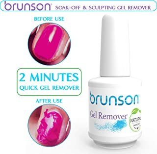 Brunson - Gel Remover, Soak Off & Sculpting Gel Remover, Removes Soak-Off Base Matte Top Coat Gel Polish in 2-5 Minutes Nail Art Primer Lacquer Nails Salon No Hurt Nails