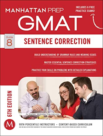 Sentence Correction GMAT Strategy Guide, 6th Edition