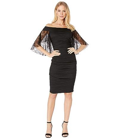 Nicole Miller Off the Shoulder Dress (Black) Women