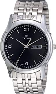 Titan Karishma Analog Black Dial Men's Watch NM1636SM01 / NL1636SM01