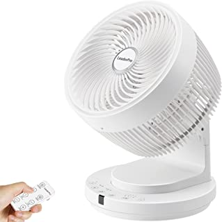 LeaderPro Ventilateur Silencieux DC Moteur avec Télécommande 25dB Turbo Ventilateur à Circulation d'Air Oscillation Horizo...