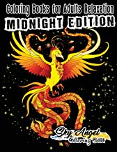 Coloring Books for Adults Relaxation: Fantasy Coloring Books for Adults: Dragon, Unicorn, Mermaid, Fairies, Mythical, Enchanted, Magical, Dark, ... and Adventure (Midnight Edition) (Volume 24)