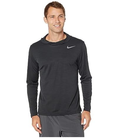 Nike Superset Top Long Sleeve Hoodie (Black/Metallic Hematite) Men