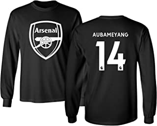 Arsenal Shirt Pierre Emerick Aubameyang #14 Men's Long Sleeve Tshirt