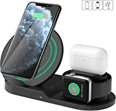 $49 » Wireless Charger Station, 3 in 1 Fast Charger for Apple Watch Series 5 4 3 2 1/Airpods, Wireless Charger for iPhone 11/11pro/11pro Max/X/XS/XR/XS Max/8/8 Plus and Other Qi Phone(Adapter Not Included)