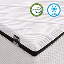 Inofia Mattress Topper, 3-Inch Gel-Infused Queen Memory Foam Mattress Pad, Ventilated 2-Layer Design with Removable Cover,...