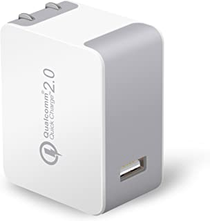 Quick Charge 2.0 USB Travel Charger, [Qualcomm Certified] JOTO Turbo Rapid AC USB Wall Charger (QC 2.0 Compact USB Travel Charger) for iPhone, iPad Apple and Android Devices (White)