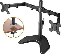 BONTEC - Doble Brazo Soporte de Escritorio para Pantalla Plana LCD LED Monitor Ordenador 13