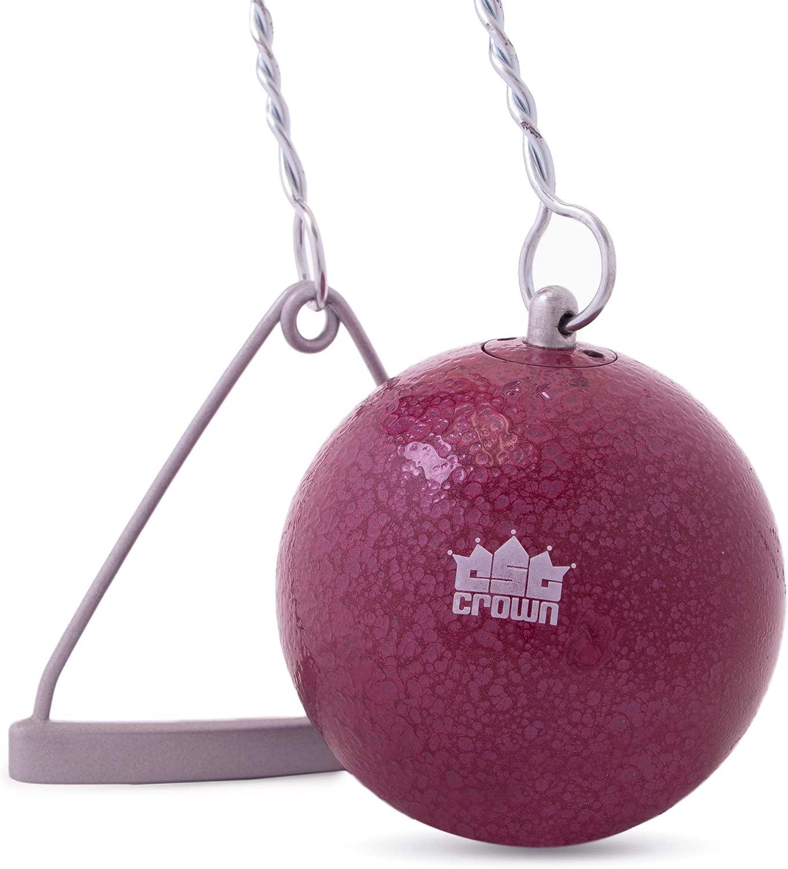 Crown Sporting Goods 鋳鉄ハンマー&ワイヤー 6kg (13.2ポンド) | 陸上競技、練習、トレーニング | イントラミュラル、大学、高校競技品質 | ワイヤーとハンドル付き