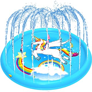 BATTOP Splash Play Mat 68in-Diameter Outdoor Water Play Sprinklers Summer Fun Backyard Play for Infants Toddlers and Kids...
