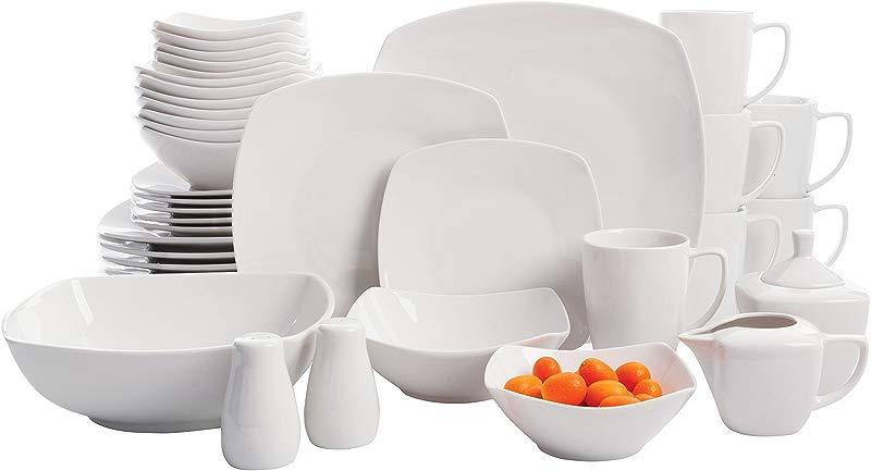 Gibson Home Zen Buffetware 39 Piece Dinnerware Set White