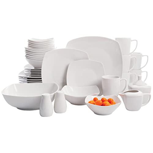 e94d5d7235e2 Gibson Home Zen Buffetware 39 Piece Porcelain Dinnerware Set Service for 6  with Serveware