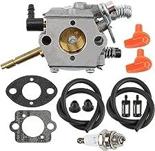Mckin WT-45 Carburetor + Fuel Filter Line + Spark Plug fits Stihl FS48 FS52 FS62 FS66 FS81 FS86 FS88 FS106 H24D BR400 Trimmer Weed Eater Parts 4126 120 0600 4126 120 0610