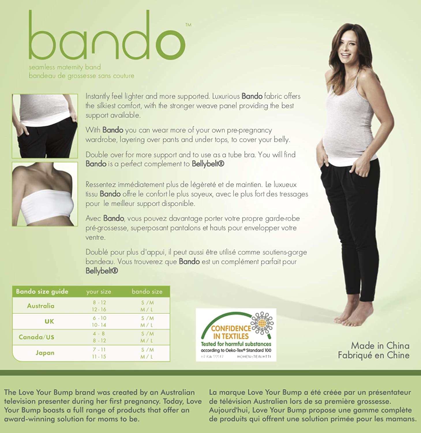 Maternity Pants and Jeans Extender for All Trimesters and Including Post Pregnancy Bando Belly Band for Pregnancy