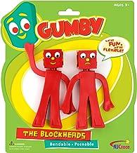 NJ Croce Gumby Blockheads G & J Bendable Figure Pair