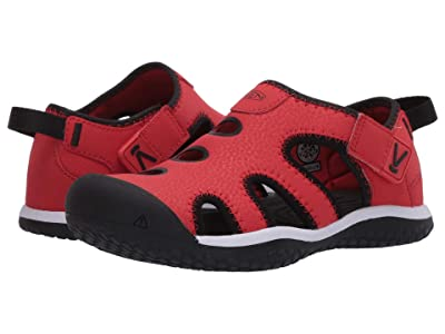 Keen Kids Stingray (Little Kid/Big Kid) (Black/Fiery Red) Boy