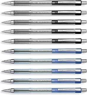Pilot Retractable Ballpoint roller pens, Black & Blue colors Fine point, 10 Count