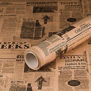 Geschenkpapier Zeitung, Newspaper, Kraftpapier, glatt, 60 g/m², Geburtstagspapier - 1 Rolle 0,70 x 10 m