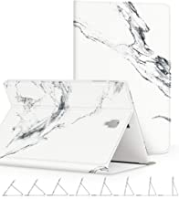 GVIEWIN Designed for Samsung Galaxy Tab S4 10.5 Case, Slim Lightweight Anti-Scratch Shell with Auto Sleep/Wake, Protective Cover for Tab S4 10.5 Model SM-T830/ T835 2018 (Marble/White)